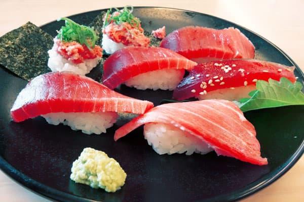 マグロ寿司の盛り合わせ